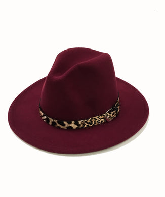 Fedora With Leopard Hat Band