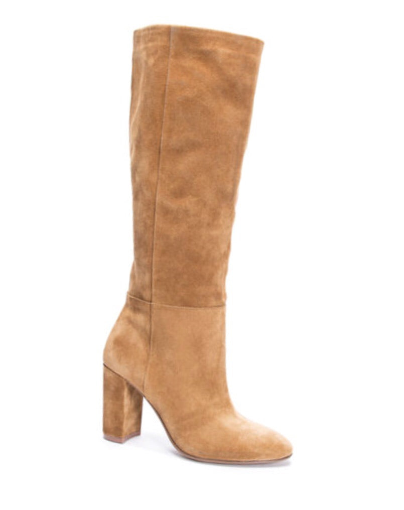 Krafty Suede Knee High Boot, Honey Gold