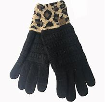Cuffed Leopard Gloves