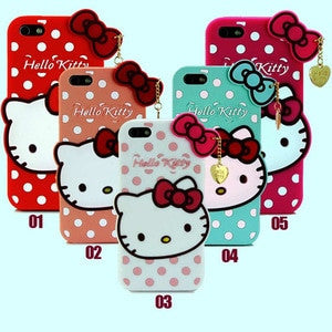 Casing Silikon iPhone 5 5S Motif Hello Kitty Iphone5 SoftCase iPhone5S (FREE ONGKIR SELURUH INDONESIA)