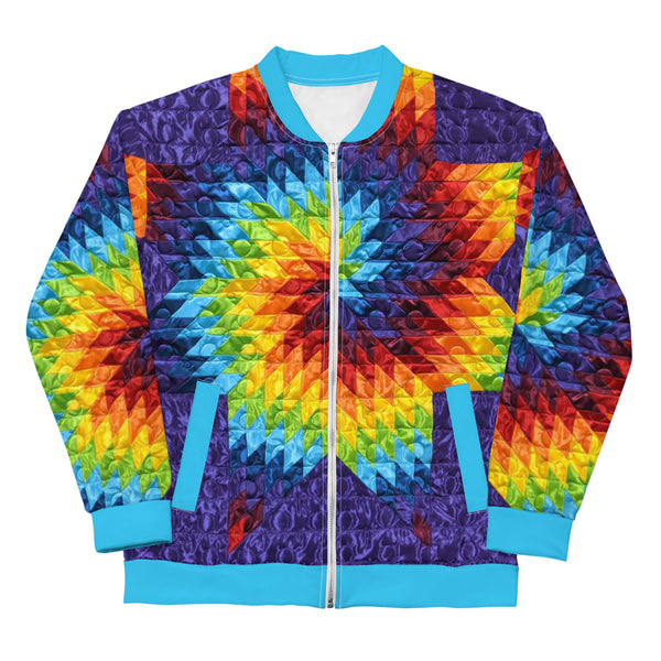 Purple Swirl Unisex Bomber Jacket