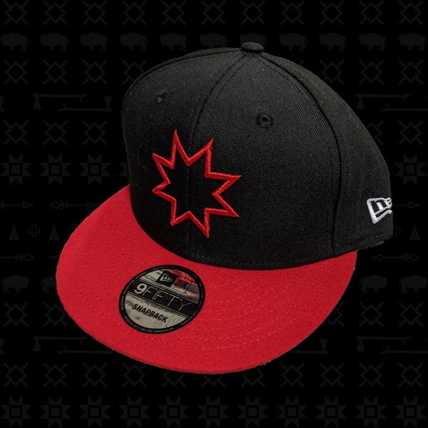 Black/Red Snapback Red Star Hat