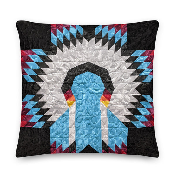 "War Bonnet - Premium Pillow 22""x22"""
