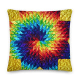 Yellow Swirl - Premium Pillow