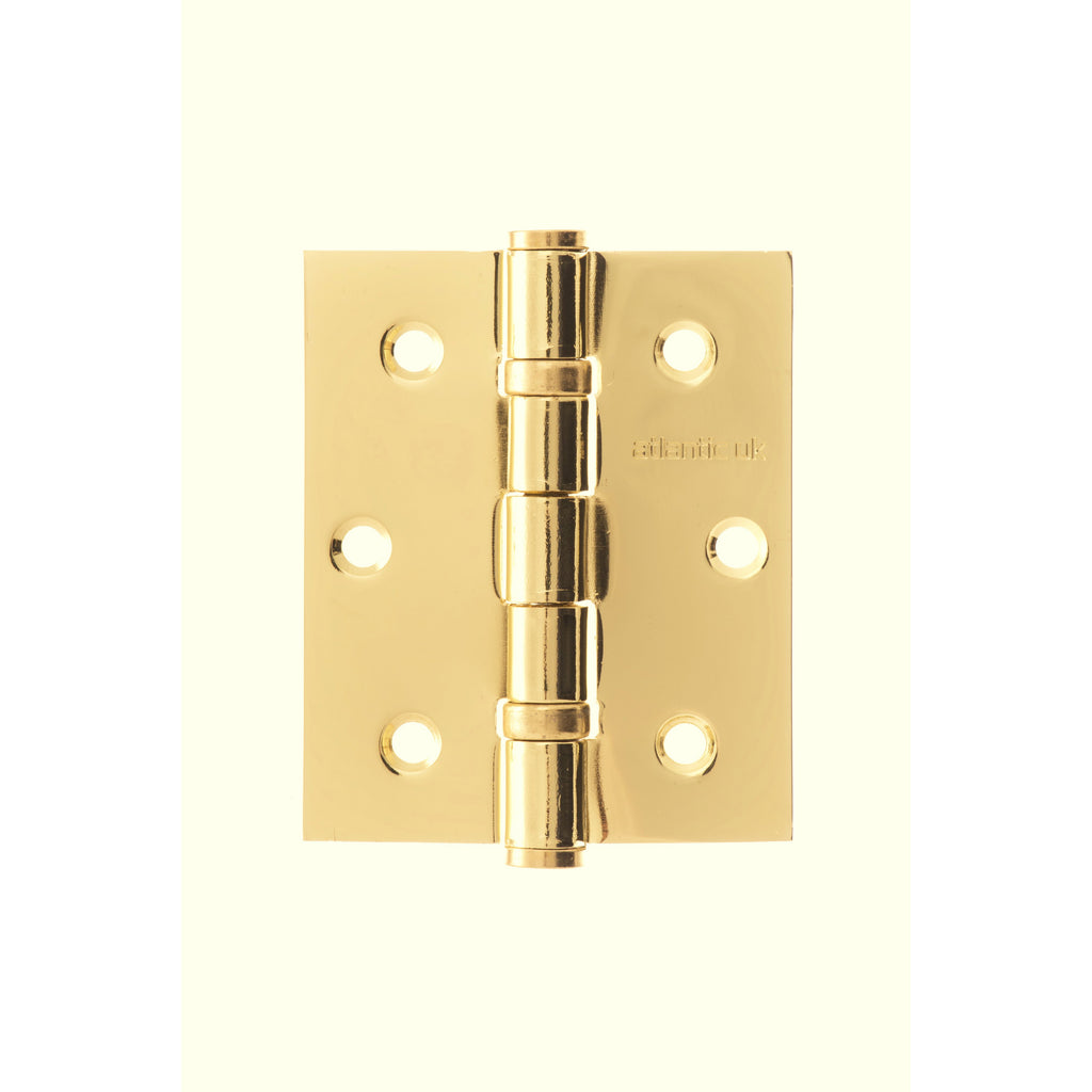 "Atlantic UK 3"" Ball Bearing Hinge in Polished Brass (Sold as pairs)"