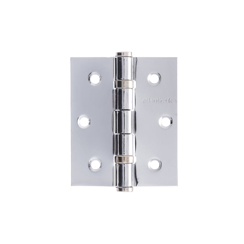 "Atlantic UK 3"" Ball Bearing Hinge in Polished Chrome (Sold as pairs)"