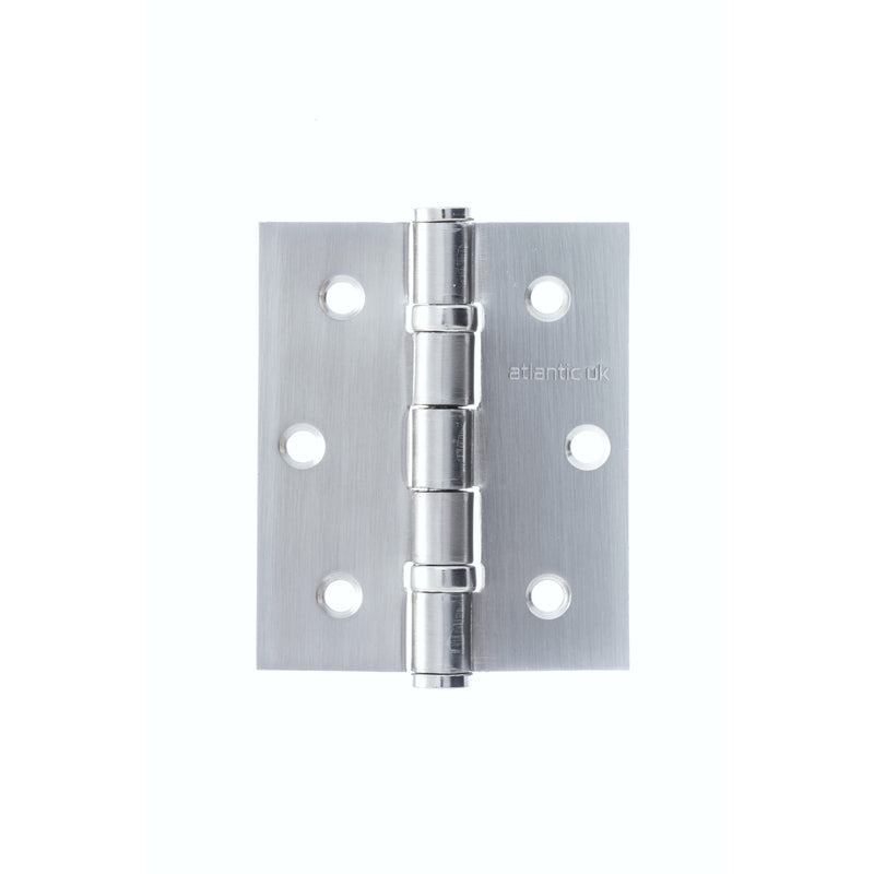 "Atlantic UK 3"" Ball Bearing Hinge in Satin Chrome (Sold as pairs)"