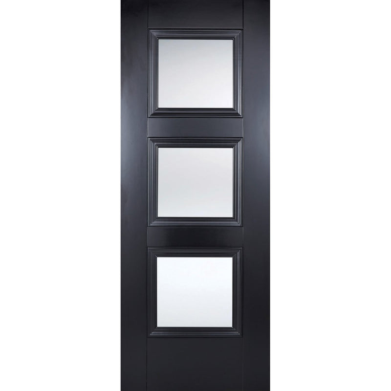 LPD Colour Amsterdam Black Door with clear toughened glass