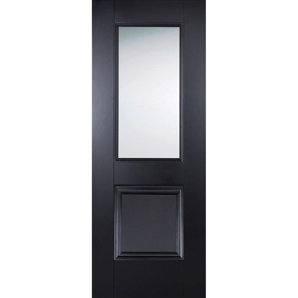 LPD Colour Arnhem Black Door with clear toughened glass