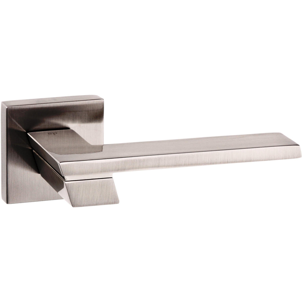 Atlantic UK Giovanni Satin Nickel Door Handle on Rose
