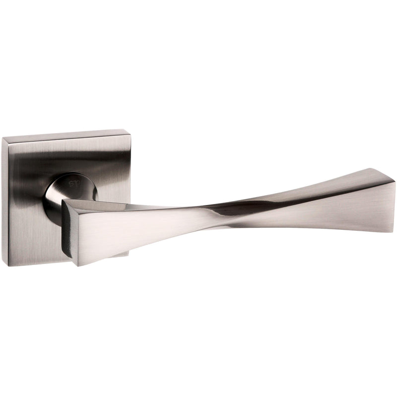 Atlantic UK Guido Satin Nickel Door Handle on Rose