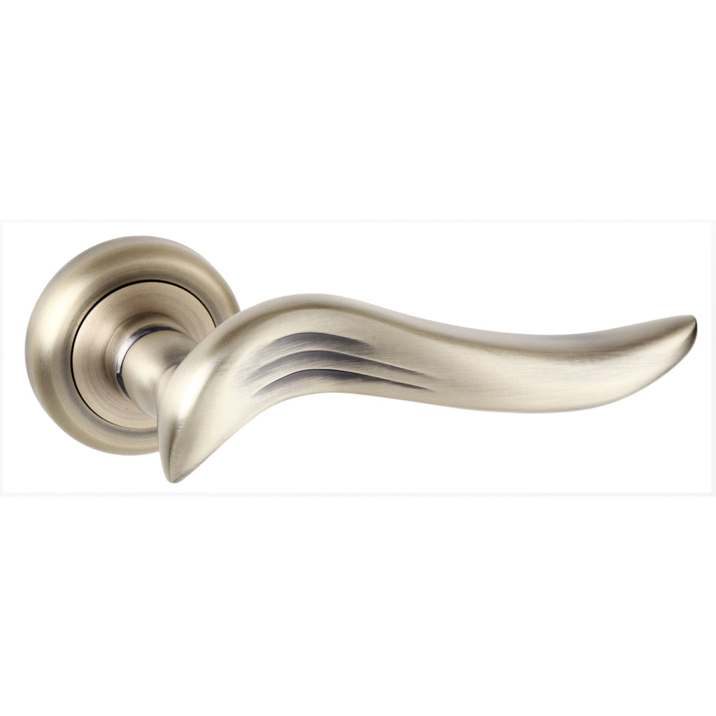 Atlantic UK Old English Oxford Matte Antique Brass Door Handle on Rose
