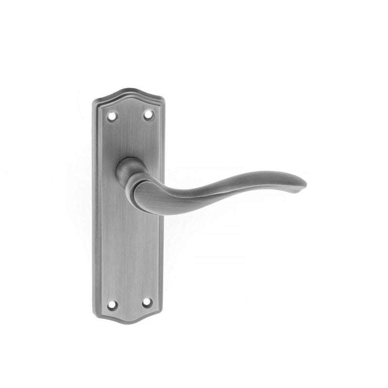 Atlantic UK Old English Warwick Matte Gun Metal Door Handle with Latch on Back Plate