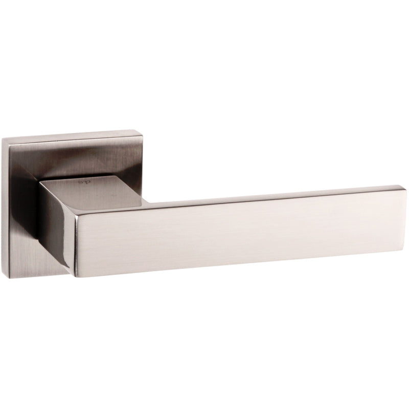 Atlantic UK Panetti Satin Nickel Door Handle on Rose