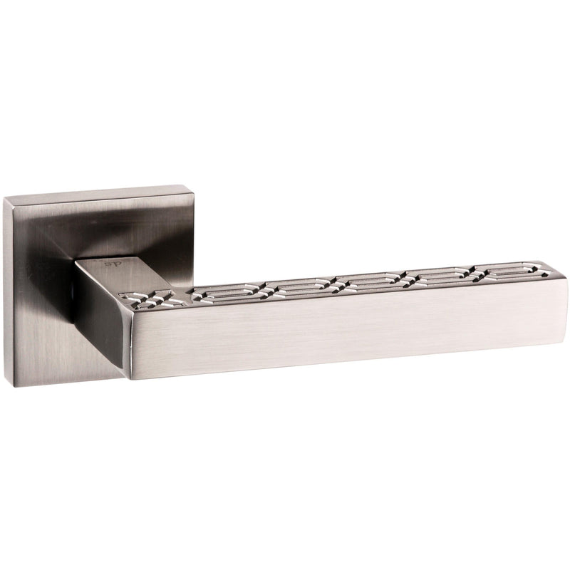 Atlantic UK Pizzoni Satin Nickel Door Handle on Rose