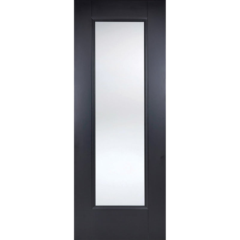 LPD Colour Eindhoven Black Door with clear toughened glass