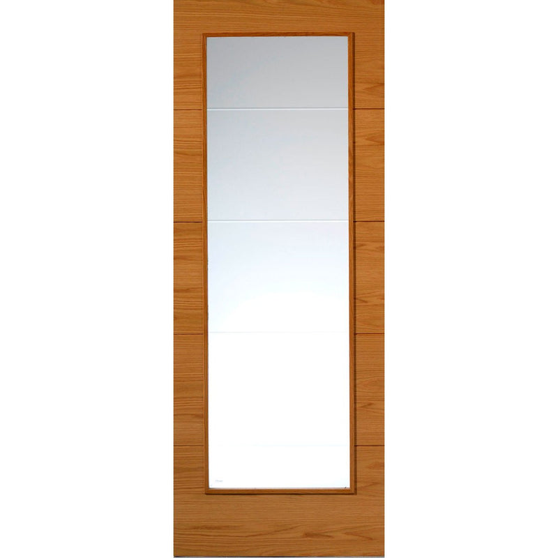 JBKind Oak VT5-1VB Oak with Clear Diamond Cut Glass