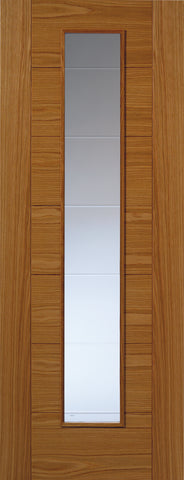 JBKind Oak VP7-1VCB Oak with Clear Diamond Cut Glass