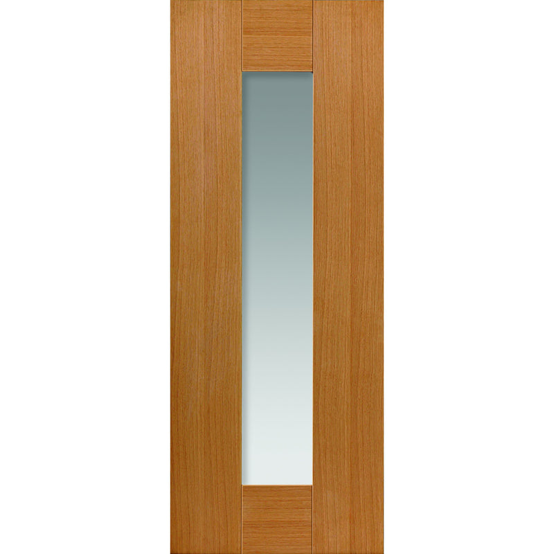 JBKind Oak Axis Oak Glazed with Clear Glass