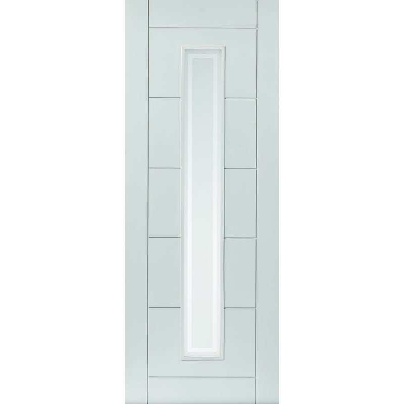 JBKind White Barbican with Etched Glass