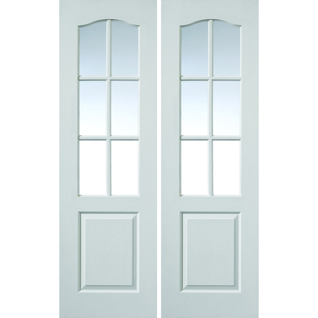 JBKind White Classique 6 Light Pair with Clear Glass