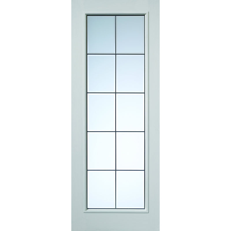 JBKind White Decima with Clear Bevelled Glass