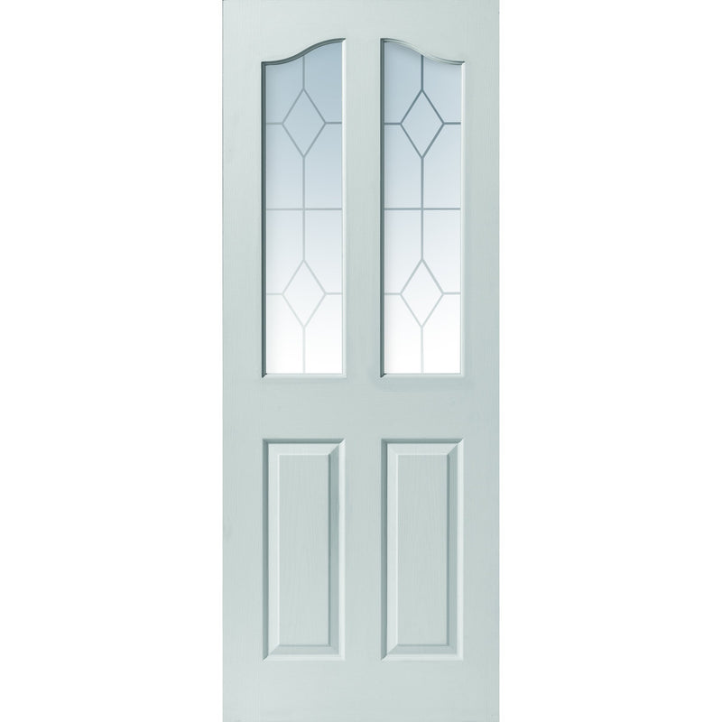 JBKind White Edwardian with Etched Safety Glass