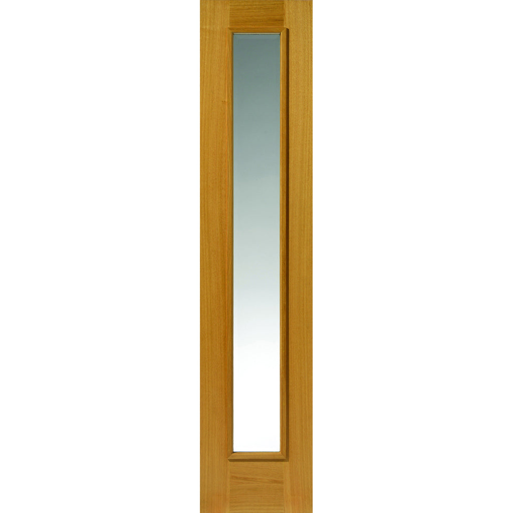 JBKind Oak Rhone Sidelight with Clear Bevelled Glass