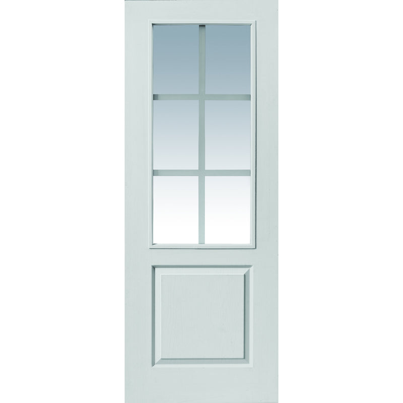 JBKind White Faro with Clear Glass