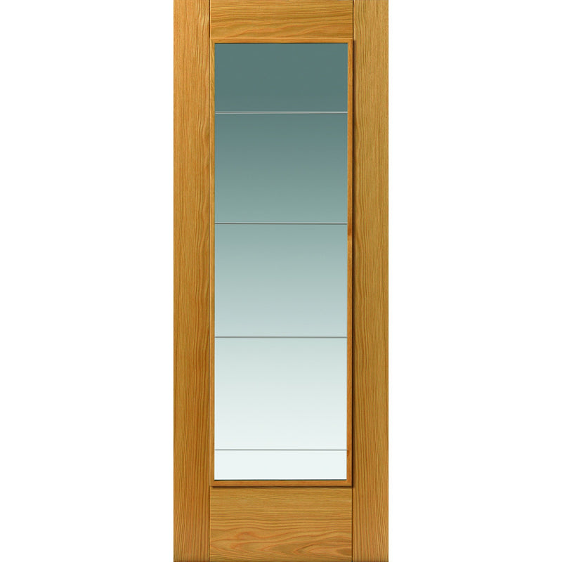 JBKind Oak Medina with Clear Diamond Cut Glass