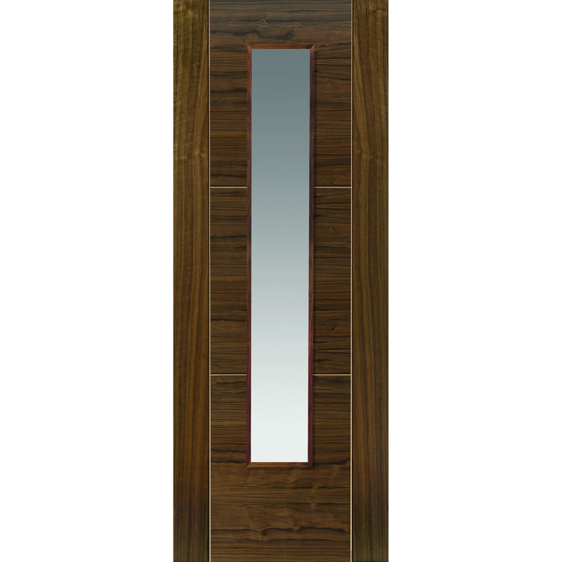 JBKind Walnut Mistral Walnut Glazed with Clear Glass