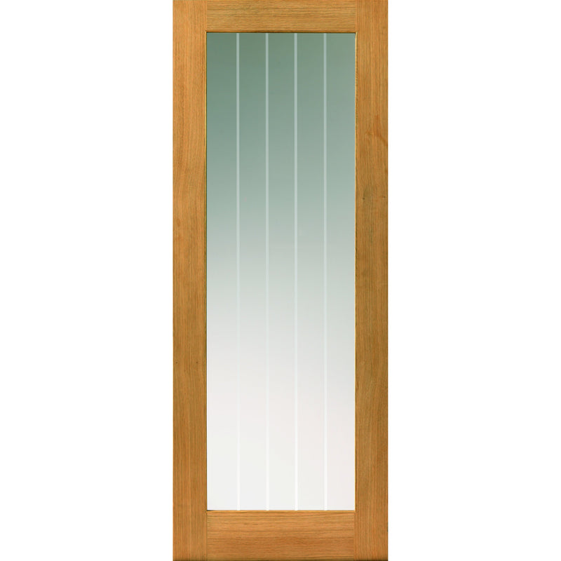 JBKind Oak Thames 1 Light with Clear Glass and Etched Lines