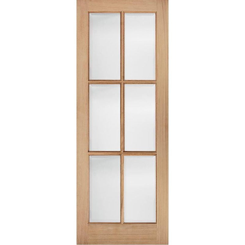 LPD Oak SA 6L Glazed with Clear Bevelled Glass  sc 1 st  CSM Doors & LPD Oak SA 6L Glazed with Clear Bevelled Glass | CSM Doors