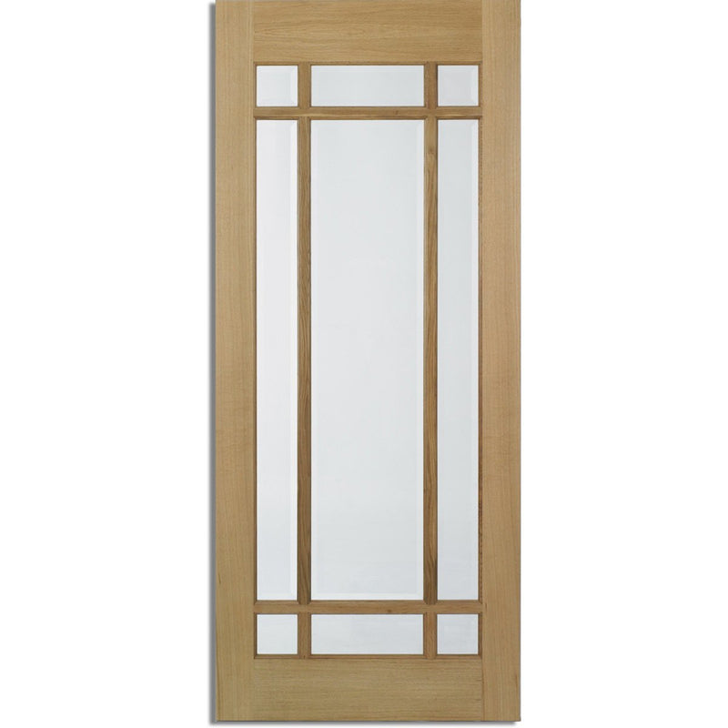 LPD Oak Lyon with Clear Bevelled Glass
