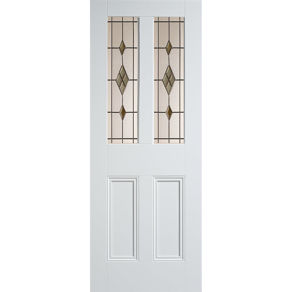 LPD White Malton with Smoked ABE-Lead Glass and Bolection mouldings