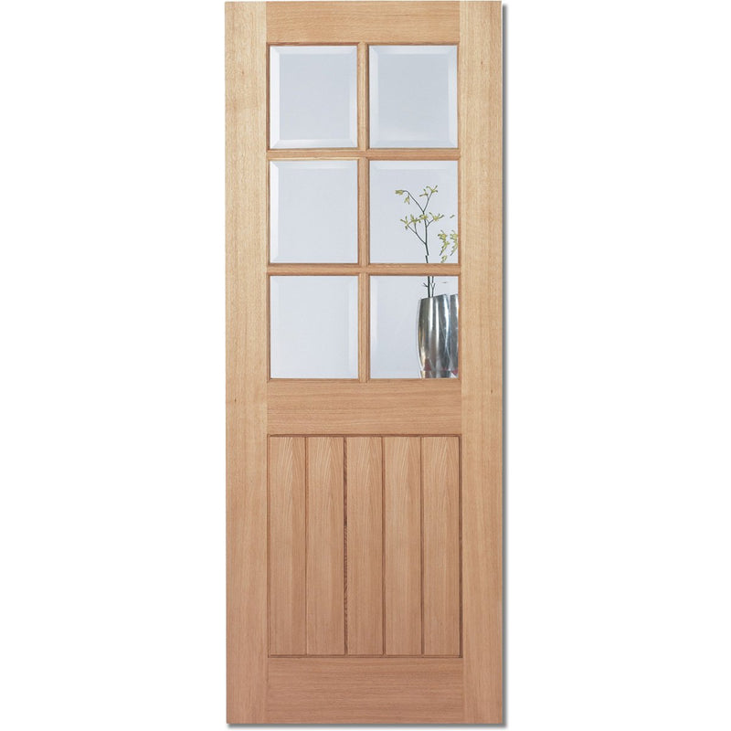 LPD Oak Mexicano 6L with Clear Bevelled Glass