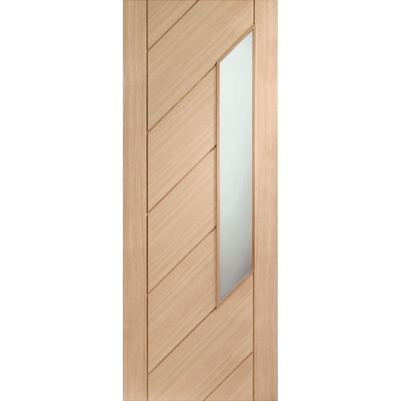 XL Joinery Oak Monza with Obscure Glass