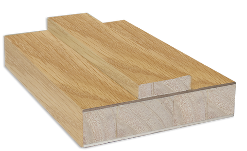 FEATURES Real American White Oak Veneer Fully finished in clear factory applied lacquer SIZES Door lining set: 133mm / 108mm x 30mm (removable stop included) Fire-rated sets include 15mm x 4mm Lorient fire seal)