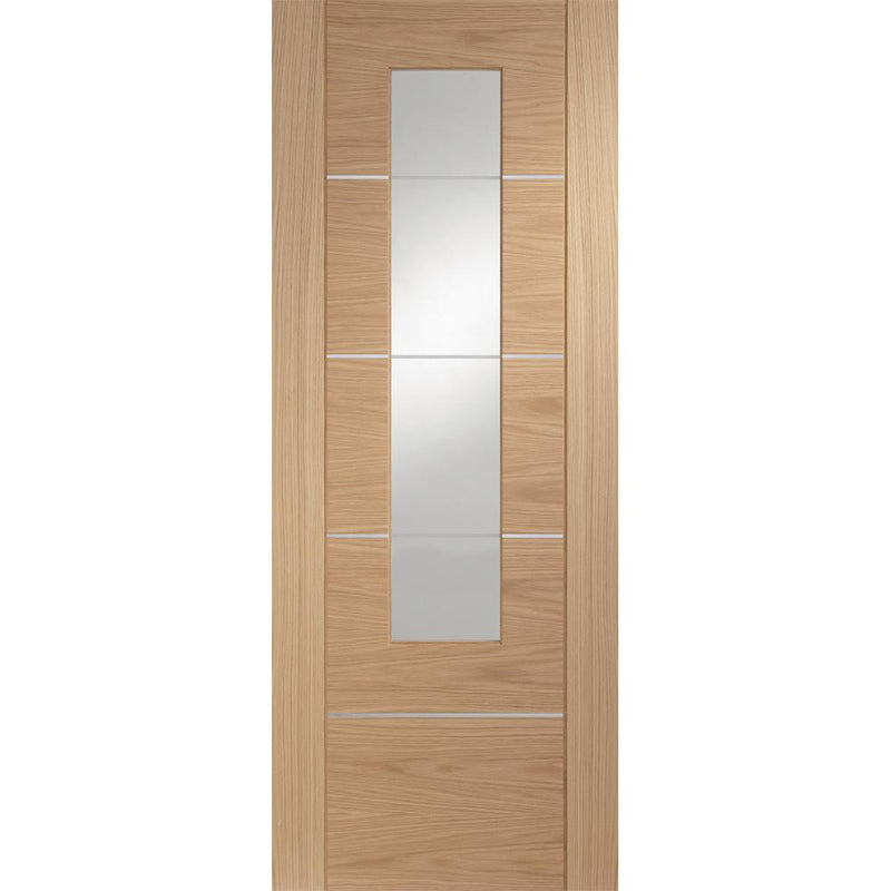 XL Joinery Oak Portici with Clear Etched Glass
