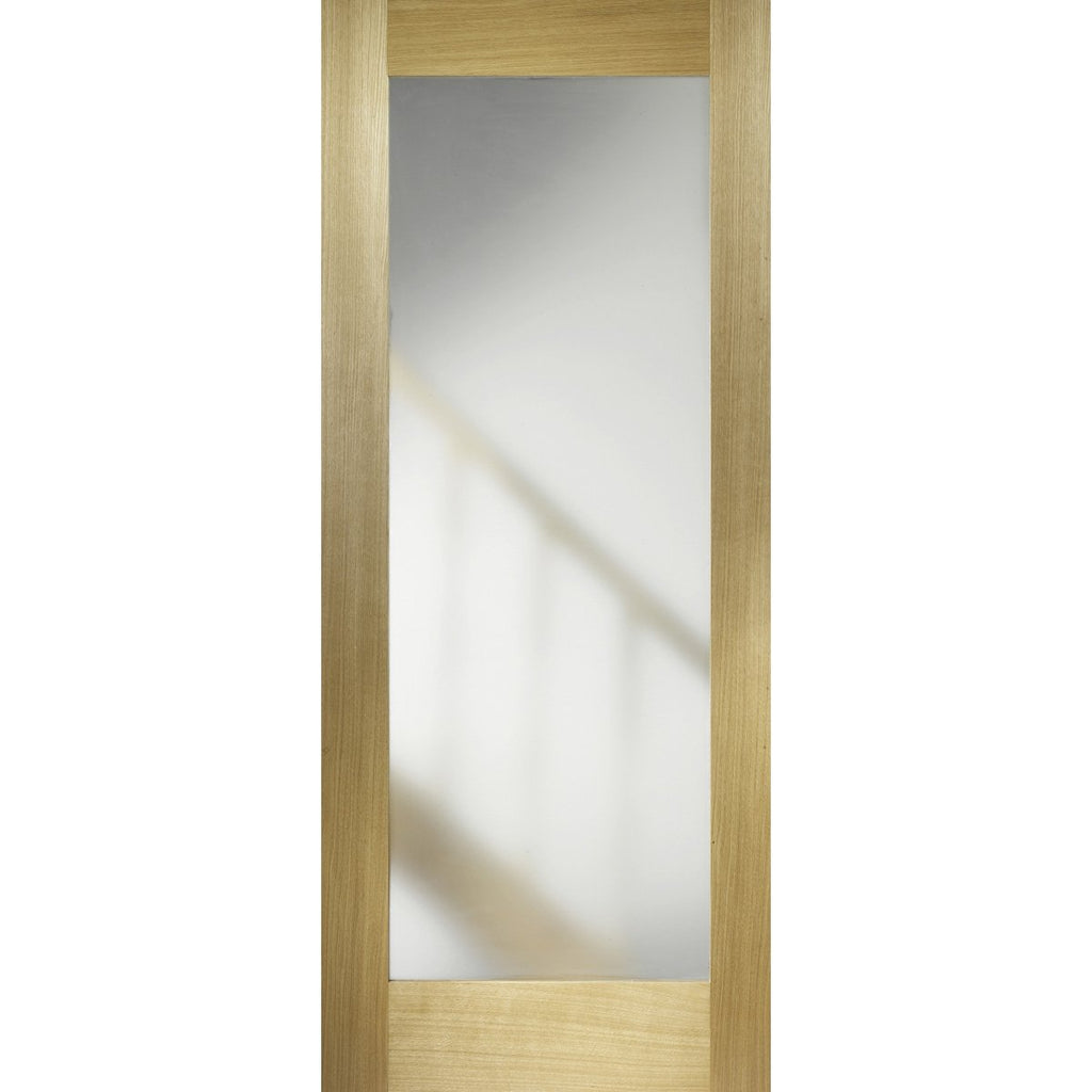 LPD Oak Porto with Frosted Glass