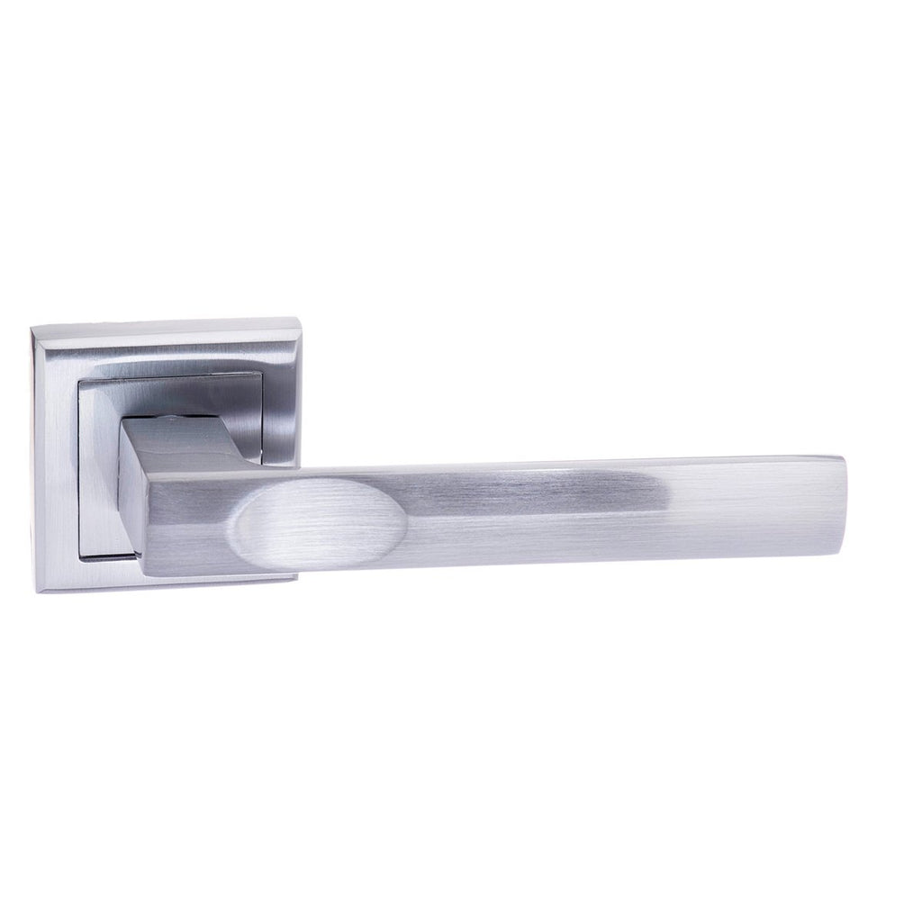 Atlantic UK Kansas Satin Chrome Door Handle on Rose