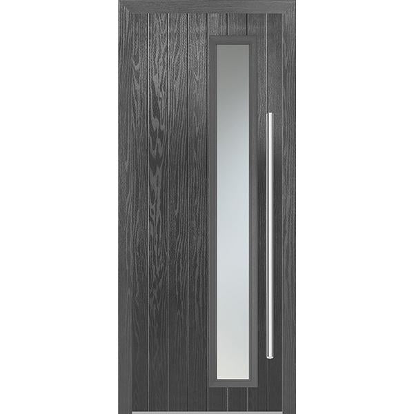 Shardlow Grey Composite door set with Grey frame