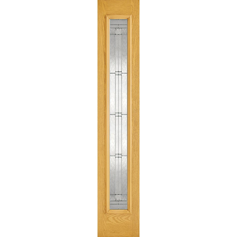 LPD Oak Elegant Sidelight with Zinc Double Glazed Glass