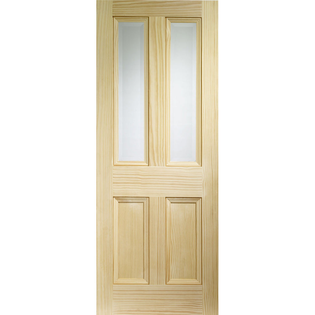 XL Joinery Pine Edwardian Vertical Grain with Clear Bevelled Glass