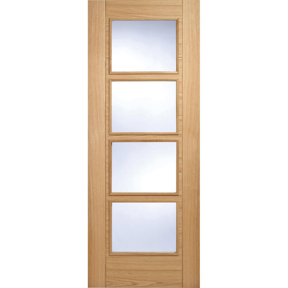 LPD Oak Vancouver 4 Light with Clear Glass