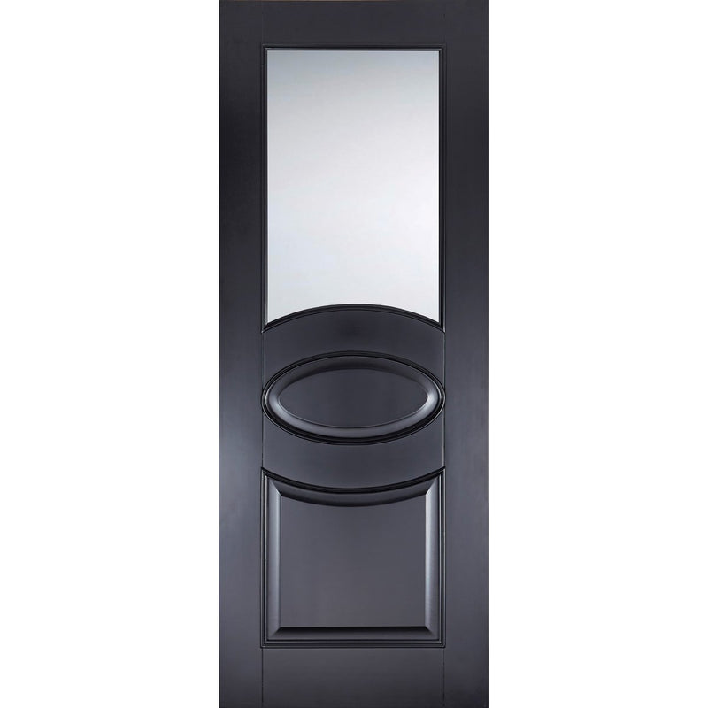 LPD Colour Versailles Black Door with clear toughened glass