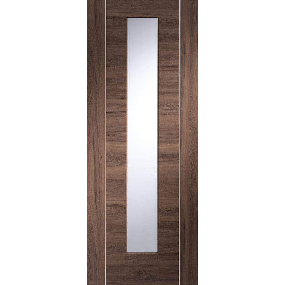 XL Joinery Walnut Forli with Clear Glass