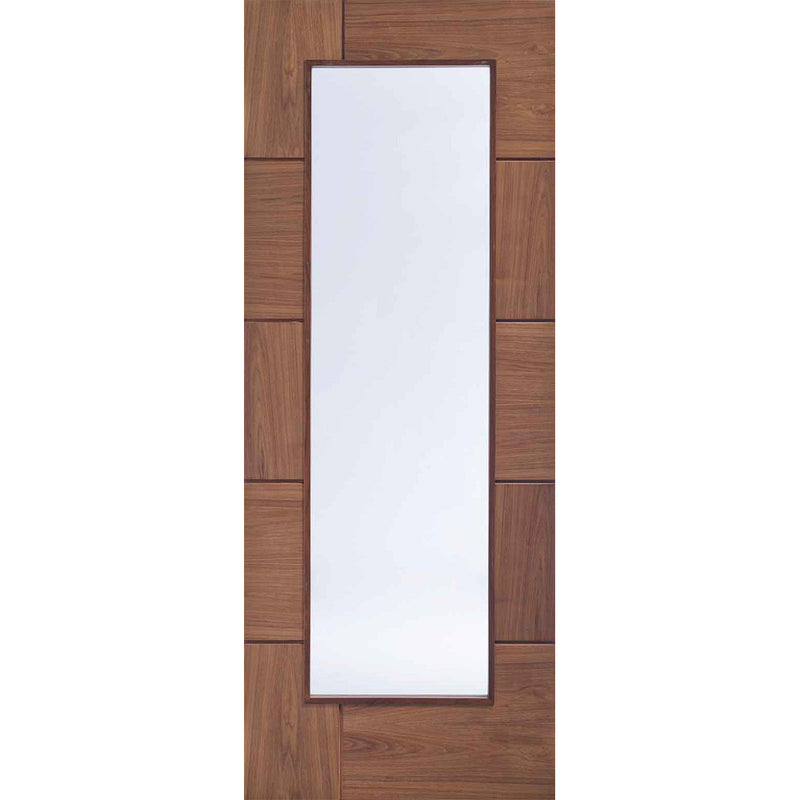 XL Joinery Walnut Ravenna with Clear Glass