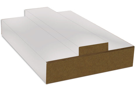 FEATURES White Primed MDF Construction SIZES Door lining set: 133mm / 108mm x 30mm (removable stop included) Fire-rated sets include 15mm x 4mm Lorient fire seal)