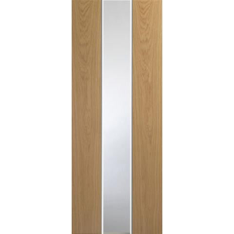 XL Joinery Pescara White/Oak with clear glass